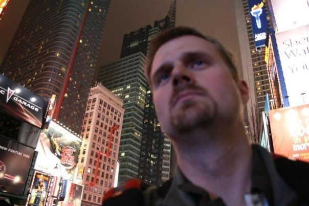 Geoff in Times Square